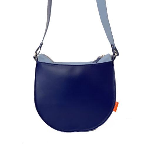 kobaltblauwe tas, blauwe schoudertas, uniek en handgemaakt