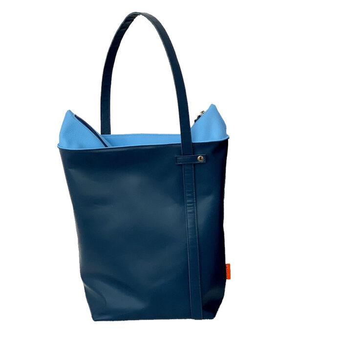 leren shopper, grote tas, marinabags, ruime leren tas, bag